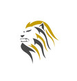 lion head line art logo icon vector image vector image