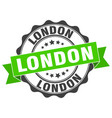london round ribbon seal vector image