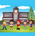 many children at school vector image vector image