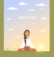 meditation dawn vector image