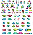 metallic glossy color abstract shapes vector image