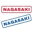 Nagasaki Rubber Stamps vector image vector image