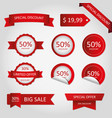 offer sale price tag discount promotion vector image