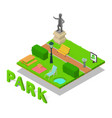 park concept banner isometric style vector image