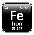 Periodic table element iron icon vector image vector image