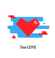 red geometric heart icon trendy modern concept vector image vector image