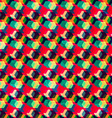 retro colored rhombus seamless pattern vector image vector image