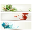 Retro romantic floral banners vector image vector image