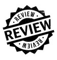 review rubber stamp vector image