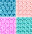 Set of knitting patterns vector image
