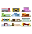 Set of shops buildings vector image vector image