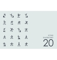 Set of skateboard icons vector image
