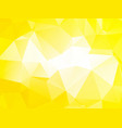 simple yellow brightly background vector image