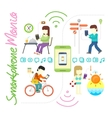 Smartphone and Social Media Mania vector image vector image