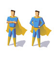 Super hero isolated minimalist design Picture vector image vector image