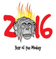 the year fire monkey chinese symbol calendar in vector image vector image