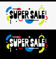 trendy sale background composition geometric vector image vector image