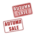 Two stamps Autumn sale realistic imprint vector image vector image