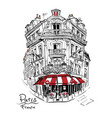typical parisian house france vector image vector image