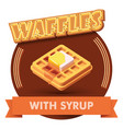 waffle or label for menu vector image
