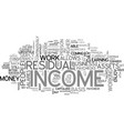 why residual income text word cloud concept vector image vector image