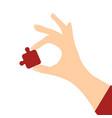 woman human hand vector image vector image