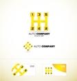 Auto gear stick speed car logo vector image
