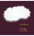 3d map of Macedonia vector image