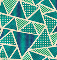 green color fabric seamless pattern with grunge vector image