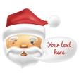 Happy face of Santa with a blank comic balloon vector image