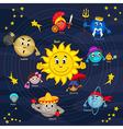 solar system vector image