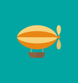 airship icon in flat style vector image