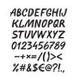 alphabet sketch handwritten font vector image vector image