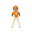american football player wearing uniform vector image vector image