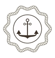 Anchor symbols badge vector image vector image