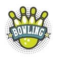 bowling club emblem vector image vector image