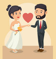 bride and groom design vector image vector image