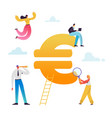 business people working on euro currency sign vector image