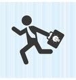 businessman running design vector image