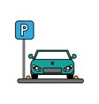 Car vehicle and parking zone design vector image vector image