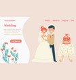 character lovely couple traditional wedding vector image vector image