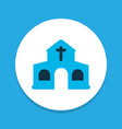 church icon colored symbol premium quality vector image vector image