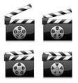 Clapper boards vector image vector image