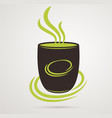 coffee cup or tea on white background vector image vector image
