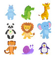 collection funny animals vector image vector image