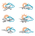 collection of aircraft vector image vector image