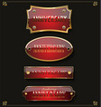collection of anniversary retro red labels vector image vector image