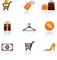 collection shopping icons vector image