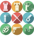 Color icons for self defence vector image