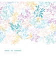 Colorful pastel branches horizontal seamless vector image vector image